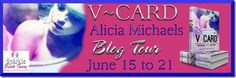 V Card by Alicia Michaels Giveaway, Top Ten, Excerpt, Trailer, Book Sale & Interview