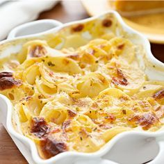 A biteable potato recipe with a crunchy top.. Scalloped Potatoes Recipe from Grandmothers Kitchen.
