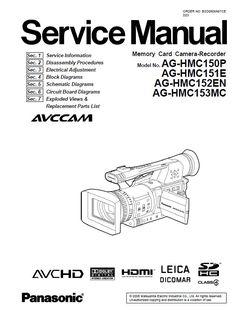 Panasonic AG-HMC80 HMC81 HMC82 HMC83 HMC84 Camcorder