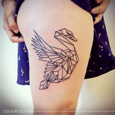 Geometric swan from my flash for Julie, done at 2Spirit Tattoo in San Francisco.