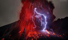 Wyspa, Kiusiu, Erupcja, Wulkanu Sakurajima, Burza