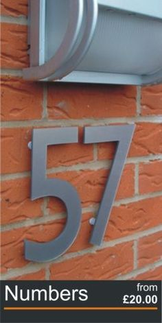 Acrylic House Door Numbers and letters in silver, gold, black, white