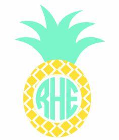 Pineapple Monogram Vinyl Decal-Various Sizes - Dixieland Monogram