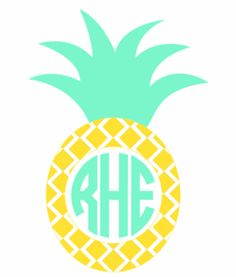 Pineapple Monogram Vinyl Decal-Various Sizes - Dixieland Monogram