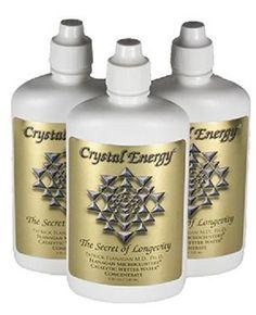 3 Crystal Energy The Secret of Longevity - 4 fl. oz.(Exp.date 6/18)- FREE SHIP #CrystalEnergy