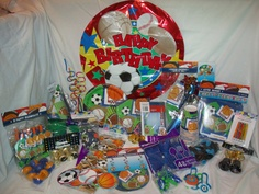 All About Sports Party in a Box by PrimoPartyinaBox on Etsy, $75.00
