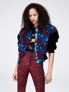 Kenzo x H&M Lookbook: Embellished bomber jacket, t-shirt and high-waist pants