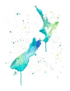New Zealand Love print