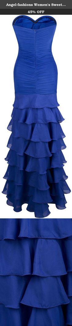Angel-fashions Women's Sweetheart Ruffle Falbala Split Peplum Sheath Dress Large. Sweetheart Ruffle Falbala Split Peplum Sheath Dress.