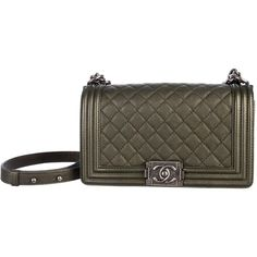 Pre-owned Chanel Shoulder Bag ($4,675) ❤ liked on Polyvore featuring bags, handbags, shoulder bags, apparel & accessories, wallets & cases, hand bags, chanel handbags, summer handbags, purse shoulder bag and quilted leather handbags
