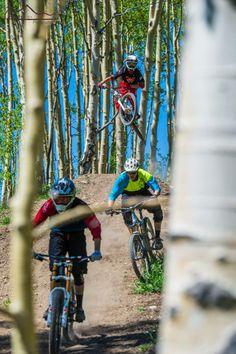 #dh riding at #evolutionbikepark #crestedbutte Photo: Chris Segal