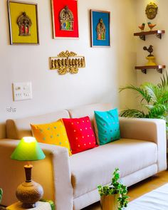 Home Interior Bedroom .Home Interior Bedroom India Home Decor, Ethnic Home Decor, Indian Living Rooms, Colourful Living Room, Living Room Sofa Design, Living Room Decor, Home Decor Furniture, Home Decor Bedroom, Bedroom Wall