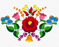 Hungarian Embroidery Patterns Beautiful Kalocsa Design/ embroidery pattern for sale. Hungarian Embroidery, Folk Embroidery, Learn Embroidery, Embroidery For Beginners, Embroidery Techniques, Flower Embroidery, Chain Stitch Embroidery, Embroidery Stitches, Embroidery Patterns