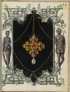 Page from the       Jewel book of the Duchess Anna of Bavaria (1550)