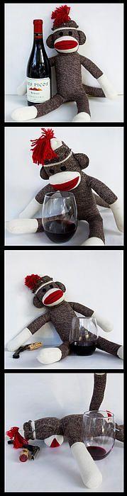 Wine Monkey by William Patrick