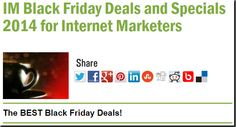 IM Black Friday Deals and Specials 2014 for Internet Marketers