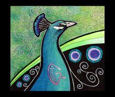 Indian Peacock as Totem by Ravenari.deviantart.com on @deviantART