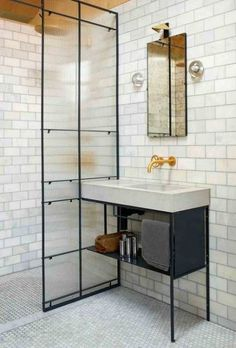 Stunning Shower Room Ideas: Interior Inspiration For Shower Enclosures Industrial Bathroom Design, Urban Industrial Decor, Industrial Style, Trendy Bathroom, Shower Enclosure, Industrial Style Bathroom, Industrial Bathroom, Industrial Bathroom Decor, Bathroom Design