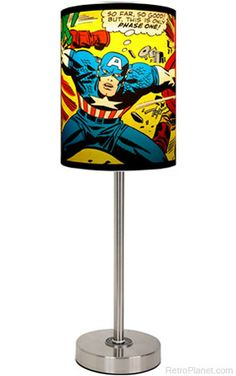 Cool lamp for the super hero themed room