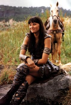 """XENA WARRIOR PRINCESS - I started watching Spartacus with my boyfriend and noticed that Lucy Lawless was one of the main characters and yelled out OMG IT'S XENA - I definitely got the """"wtf is wrong with you"""" look but I couldn't control myself, I love her!"""
