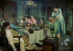 Typical dinner of Polish nobility. Still from Podhale w ogniu by Jan Batory and Henryk Hechtkopf. Photo: Jerzy Stawicki / The National Film Archive / www.fototeka.fn.org.pl