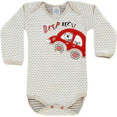 Body Bebê Menino Carro Cinza Poá - Patimini :: 764 Kids | Roupa bebê e infantil