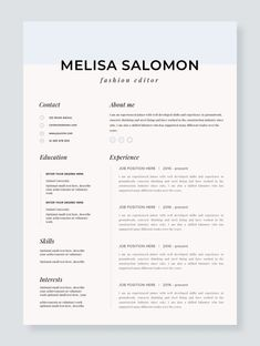Professional Resume Template for mac Simple Resume Template, Resume Design Template, Creative Resume Templates, Design Resume, Professional Resume Design, Cv Template Student, Microsoft Word, Flugblatt Design, Graphic Design