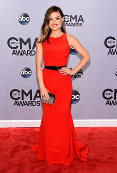 Lucy Hale Photos: Arrivals at the 48th Annual CMA Awards