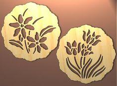 Scroll Saw Patterns Free Design   Spring Trivet or Wall Art Patterns