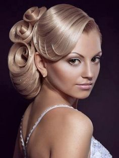 Beautiful wedding hairstyle with defined shapes