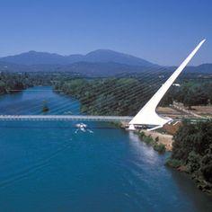 Sundial Bridge in Redding California at Turtle Bay Exploration Park in beautiful Shasta County!