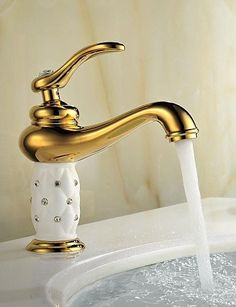 Antique TiPVD Brass One Hole Single Handle Bathroom Sink Tap Simple stylish luxurious classic and durable design -- Find out more about the great product at the image link.