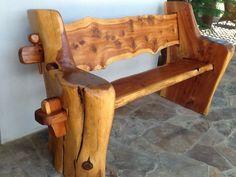 Rustic Cedar Bench: