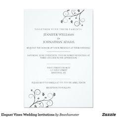 Elegant Vines Wedding Invitations