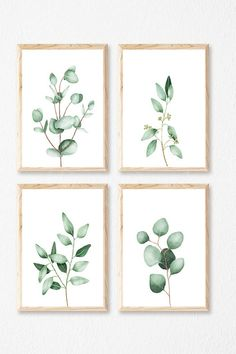EUCALYPTUS WALL ART Instant Download Print gallery wall set | Etsy