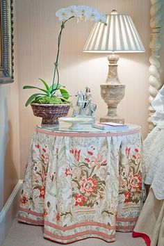 placement on skirted tablecloth:)