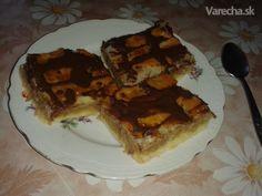 Recept na svieži jablkový koláč. Vrchná vrstva je z lístkového cesta.