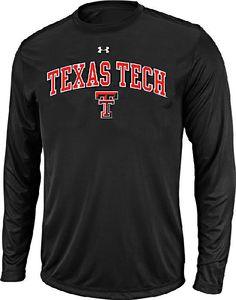 Texas Tech Red Raiders Black Poly Dry HeatGear NuTech Long Sleeve Shirt by Under Armour $39.95