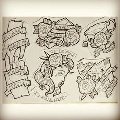 I sometimes want to make a book of every tattoo I wanted to get before I actually got a tattoo - Morgen wird Gestern