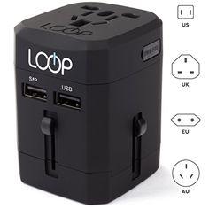 LOOP World Adapter Plug, Worldwide Travel Adapter Charger... https://www.amazon.com/dp/B00Y3ABJKS/ref=cm_sw_r_pi_dp_x_TxlkybH5X474R