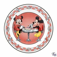 "Lenox Classics Mickey And Friends Soda Shop Sweetheart Dessert Plates Set Of 4 by Lenox. $54.99. Dimensions: 7"" Dia. Soda Shop Sweetheart Dessert Plates Set Of 4 - Crafted Of Hand-Painted Lenox Ivory Fine China, Accented With 24 Karat Gold. © Disney - Made In Imported"