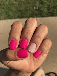 Pink nails. #cutesummernails