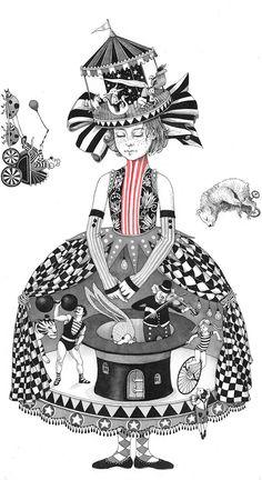 Whimsical illustrations for a book about kids by Israel-based artist Sveta Dorosheva, originally from the Ukraine.