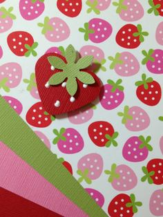 Two punches and a little pin work = An adorable Strawberry!