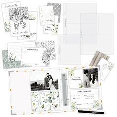 Wedding pages Mr and Mrs Project Life Foerver and Ever 10x12 scrapbook pages wedding memories