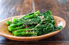 Chinese Broccoli with Garlicky Ginger Miso Recipe