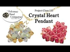 ▶ Make a Crystal Heart Pendant - YouTube free tutorial from The Potomac Bead Company www.potomacbeads.com Buy Online: www.thebeadco.com