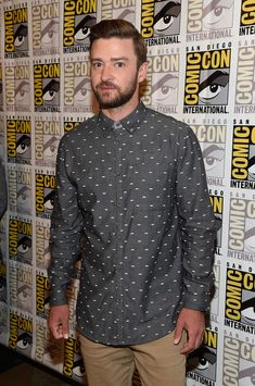 Justin Timberlake attends the DreamWorks Animation press line during Comic-Con International 2016.