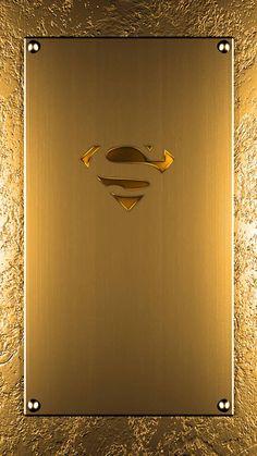 Superman logo - solid gold looking wallpaper Apple Logo Wallpaper Iphone, Phone Wallpaper Design, Samsung Galaxy Wallpaper, Wallpaper Space, Hero Wallpaper, Apple Wallpaper, Cellphone Wallpaper, Nature Wallpaper, Wallpaper Backgrounds