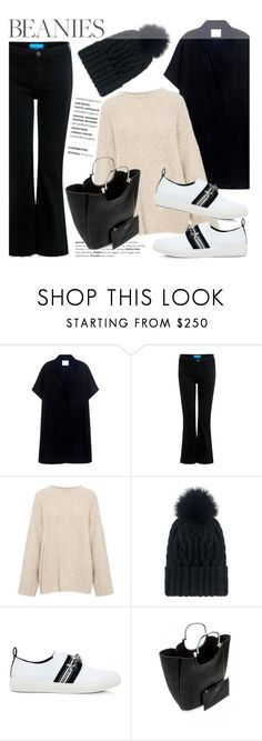 """""""Hat Head: Pom Pom Beanies"""" by ifchic ❤ liked on Polyvore featuring TIBI, M.i.h Jeans, IRO, Eugenia Kim, Mother of Pearl, 10 Crosby Derek Lam, contestentry, ifchic and pompombeanies"""